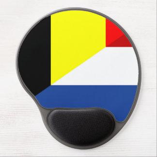 netherland belgium flag half country flag gel mouse mat