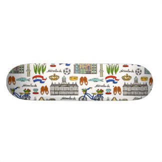 Netherland Doodle Pattern 21.6 Cm Old School Skateboard Deck