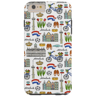 Netherland Doodle Pattern Tough iPhone 6 Plus Case