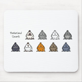 Netherland Dwarf Colours Mouse Pad