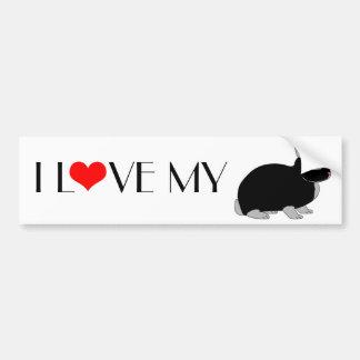 Netherland Dwarf Rabbit Car Bumper Sticker