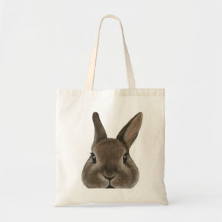 Netherland Dwarf rabbit Original painting by miart Tote Bag