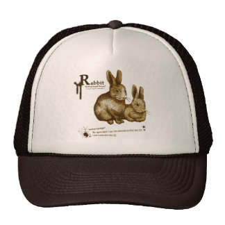 Netherland Dwarf Rabbit - sepia 帽子