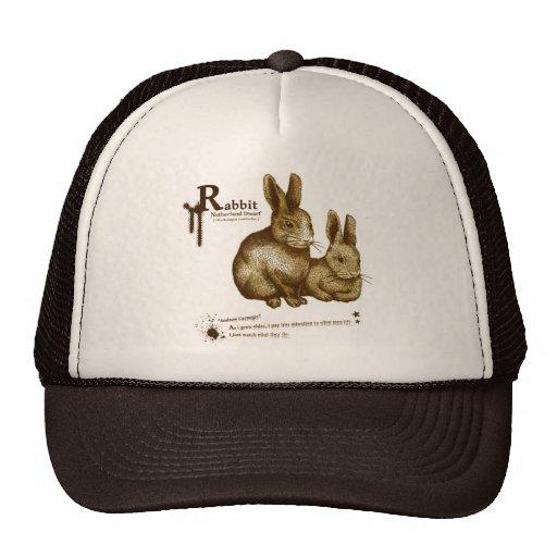 Netherland Dwarf: Rabbit - sepia Trucker Hats