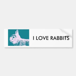 Netherland dwarf rabbit teal bumper sticker