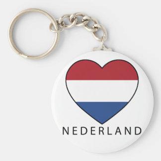 Netherland Heart with black NEDERLAND Key Ring