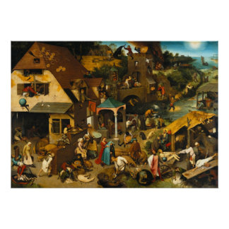 Netherlandish Proverbs by Pieter Bruegel the Elder Poster