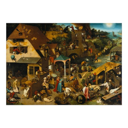 Netherlandish Proverbs by Pieter Bruegel the Elder Print