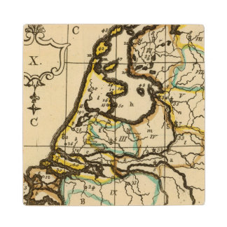 Netherlands 4 wood coaster