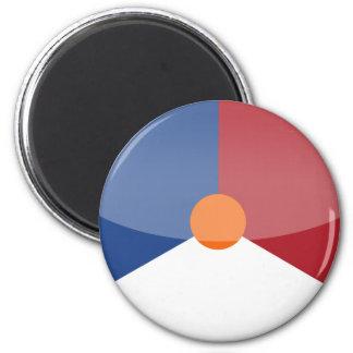 netherlands 6 cm round magnet