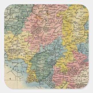 Netherlands 8 square sticker