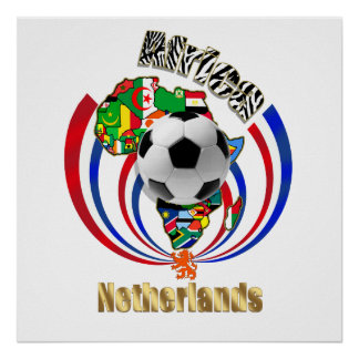 Netherlands Africa Oranje Soccer Ball Gifts Posters