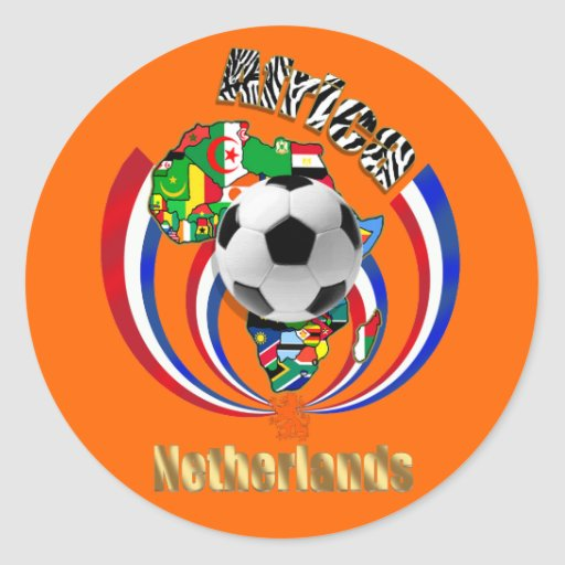 Netherlands Africa Oranje Soccer Ball Gifts Round Stickers