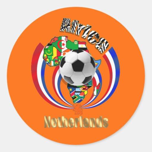 Netherlands Africa Oranje Soccer Ball Gifts Sticker
