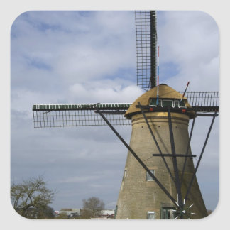 Netherlands (aka Holland), Kinderdijk. 19 Square Sticker