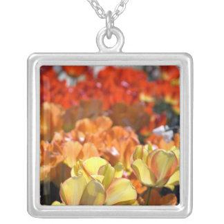 Netherlands aka Holland), Lisse. Keukenhof Silver Plated Necklace