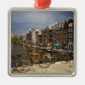 Netherlands, Amsterdam. View of canal from Christmas Ornament