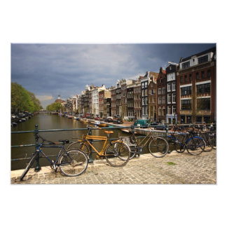 Netherlands, Amsterdam. View of canal from Photo Art
