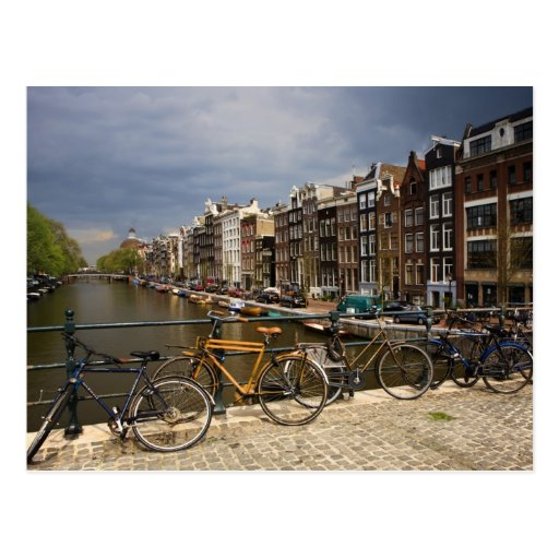 Netherlands, Amsterdam. View of canal from Post Card