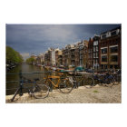 Netherlands, Amsterdam. View of canal from Poster