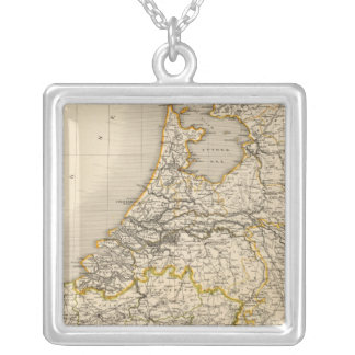 Netherlands and Belgium 2 Silver Plated Necklace