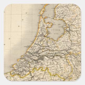 Netherlands and Belgium 2 Square Sticker