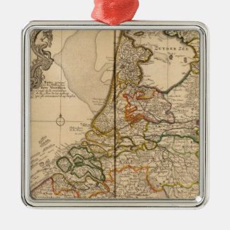 Netherlands and Belgium Silver-Colored Square Decoration