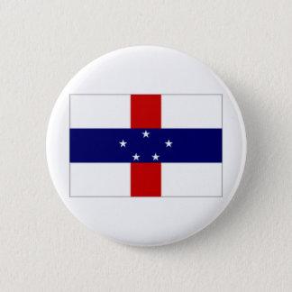 Netherlands Antilles Flag 6 Cm Round Badge