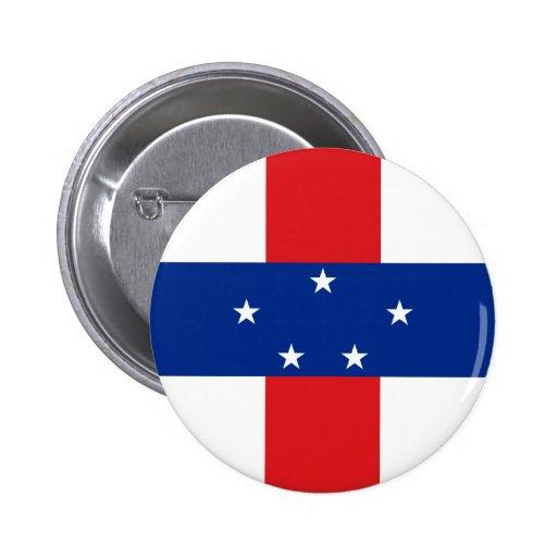 Netherlands Antilles Flag Button