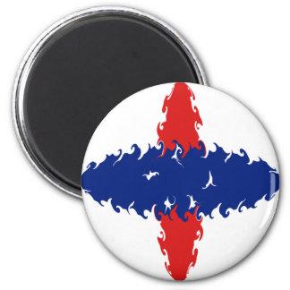 Netherlands Antilles Gnarly Flag 6 Cm Round Magnet