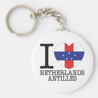 Netherlands Antilles Love v2 Keychains