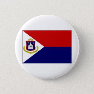 Netherlands Antilles St Maarten Flag 6 Cm Round Badge