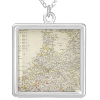 Netherlands, Belgium Silver Plated Necklace