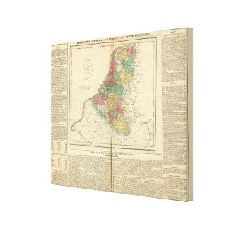 Netherlands, Beligium Atlas Map Canvas Print