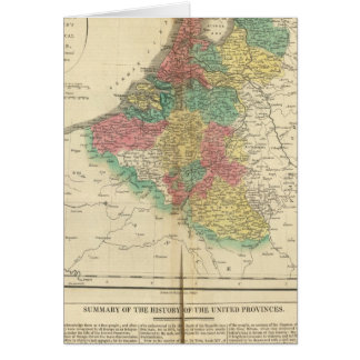 Netherlands, Beligium Atlas Map Card