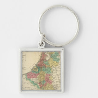 Netherlands, Beligium Atlas Map Key Ring