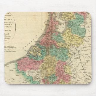 Netherlands, Beligium Atlas Map Mouse Mat