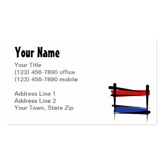 Netherlands Brush Flag Double-Sided Standard Business Cards (Pack Of 100)