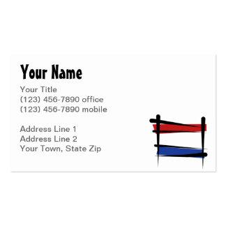 Netherlands Brush Flag Business Cards