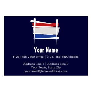 Netherlands Brush Flag Pack Of Chubby Business Cards