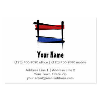 Netherlands Brush Flag Business Card Template