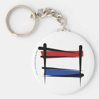 Netherlands Brush Flag Key Chains