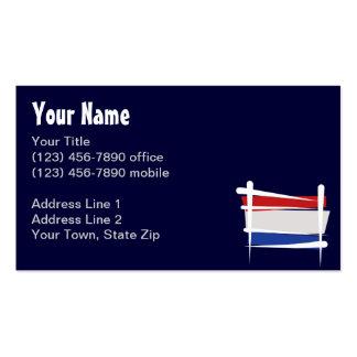 Netherlands Brush Flag Pack Of Standard Business Cards
