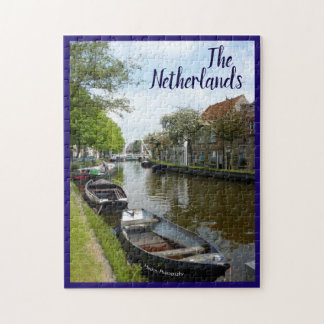 Netherlands Canal & Boats Jigsaw Puzzle