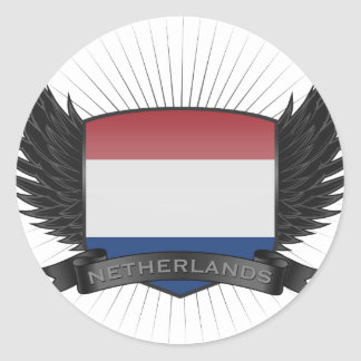 NETHERLANDS CLASSIC ROUND STICKER