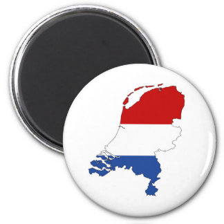netherlands country flag map shape dutch 6 cm round magnet