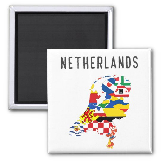 Netherlands country regions province flag map symb magnet