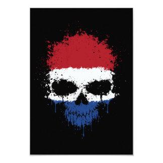 Netherlands Dripping Splatter Skull Invites