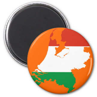 Netherlands Dutch flag map 6 Cm Round Magnet