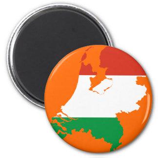 Netherlands Dutch flag map Magnet